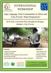 Poster Sign Language Colloquium
